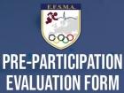 EFSMA Pre-Participation Evaluation (PPE) forms